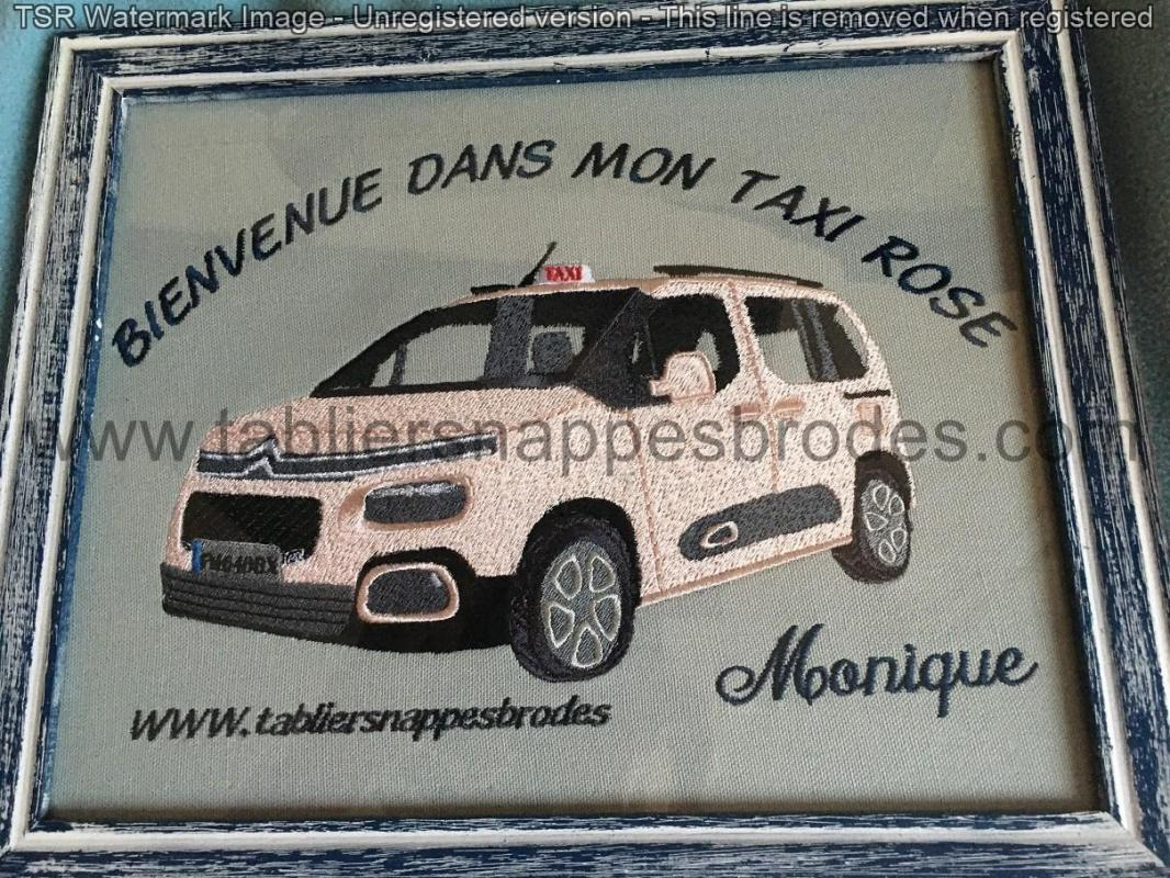 Taxi rose cadre
